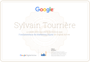 Certification Fondamentaux du Marketing Digital - Google