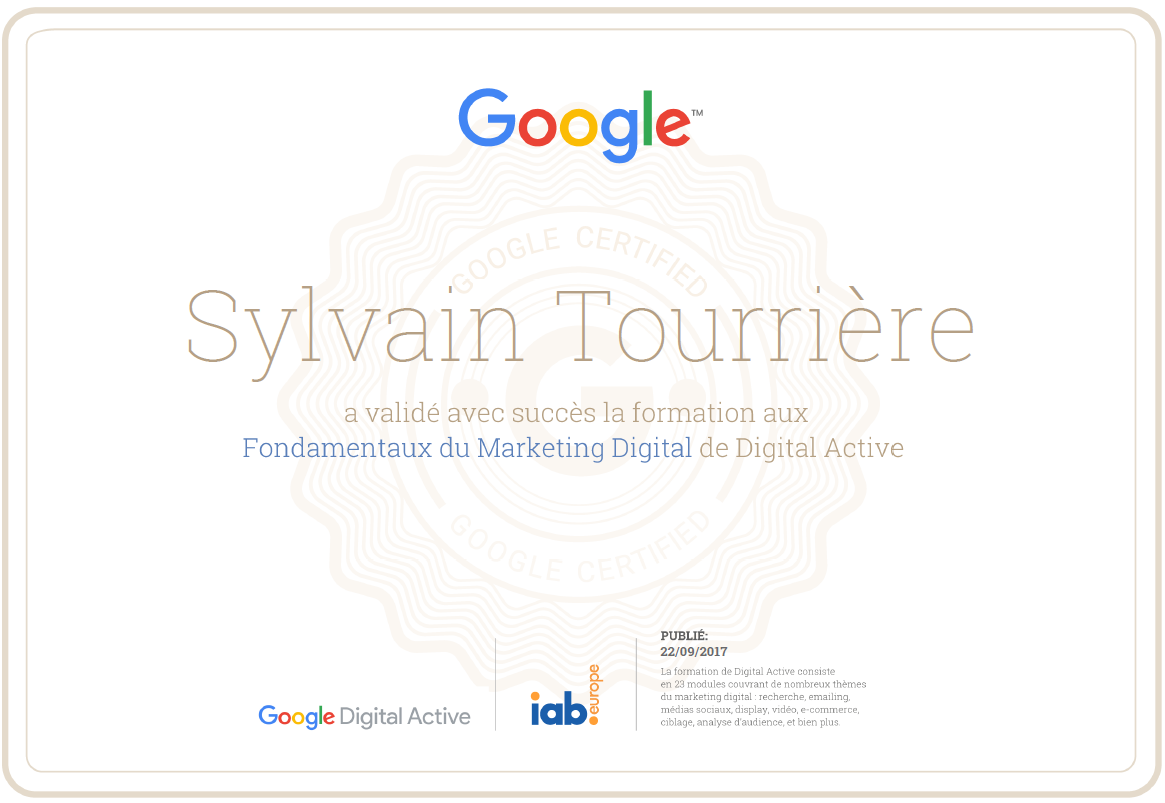 certification google fondamentaux marketing digital