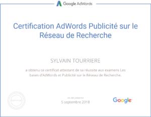 Certification Adwords Publicité sur le Réseau de Recherche - Google