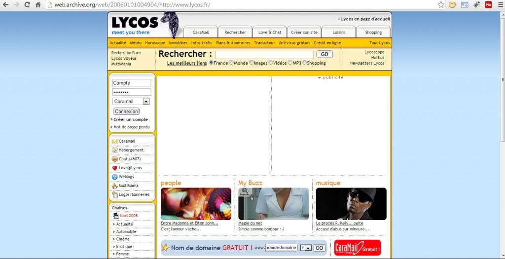 Projet e-commerce Portail LYCOS en 2006