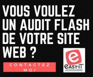 Audit flash site web : audit gratuit réalisé en 1 heure.