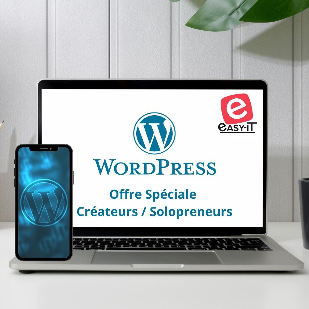 Création de sites web avec WordPress - Offre spéciale pour les solopreneurs à 999 € HT - 5 pages maximum