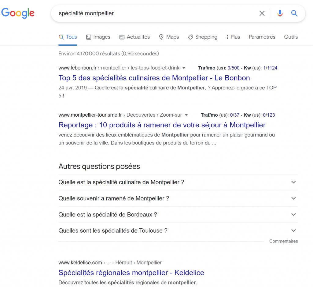 Specialite Montpellier